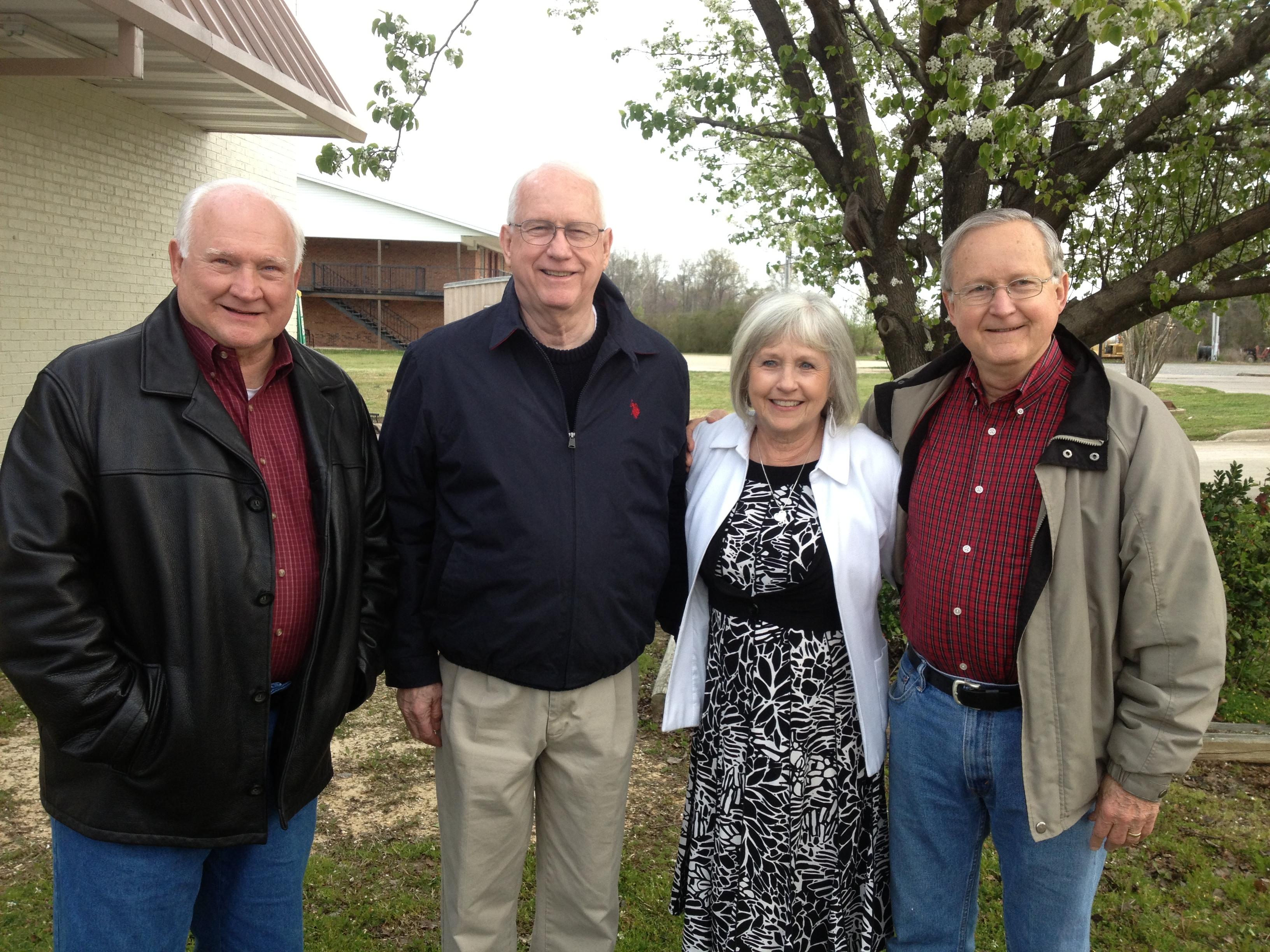 """John W, Luke and Jim with their """"little"""" sister Dottie."""