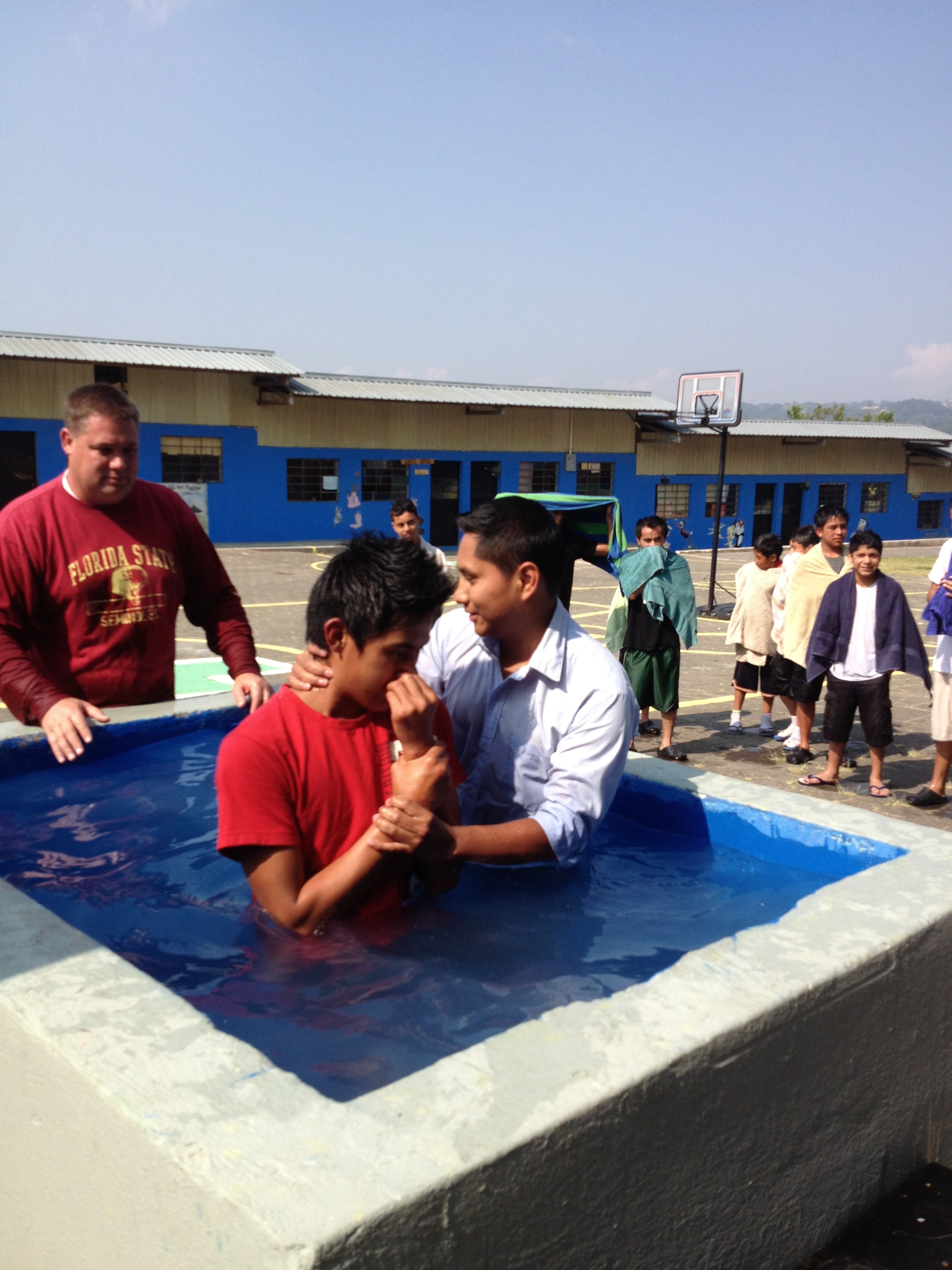My son-in-law, Ezdras, baptizing those who committed their lives to Jesus.