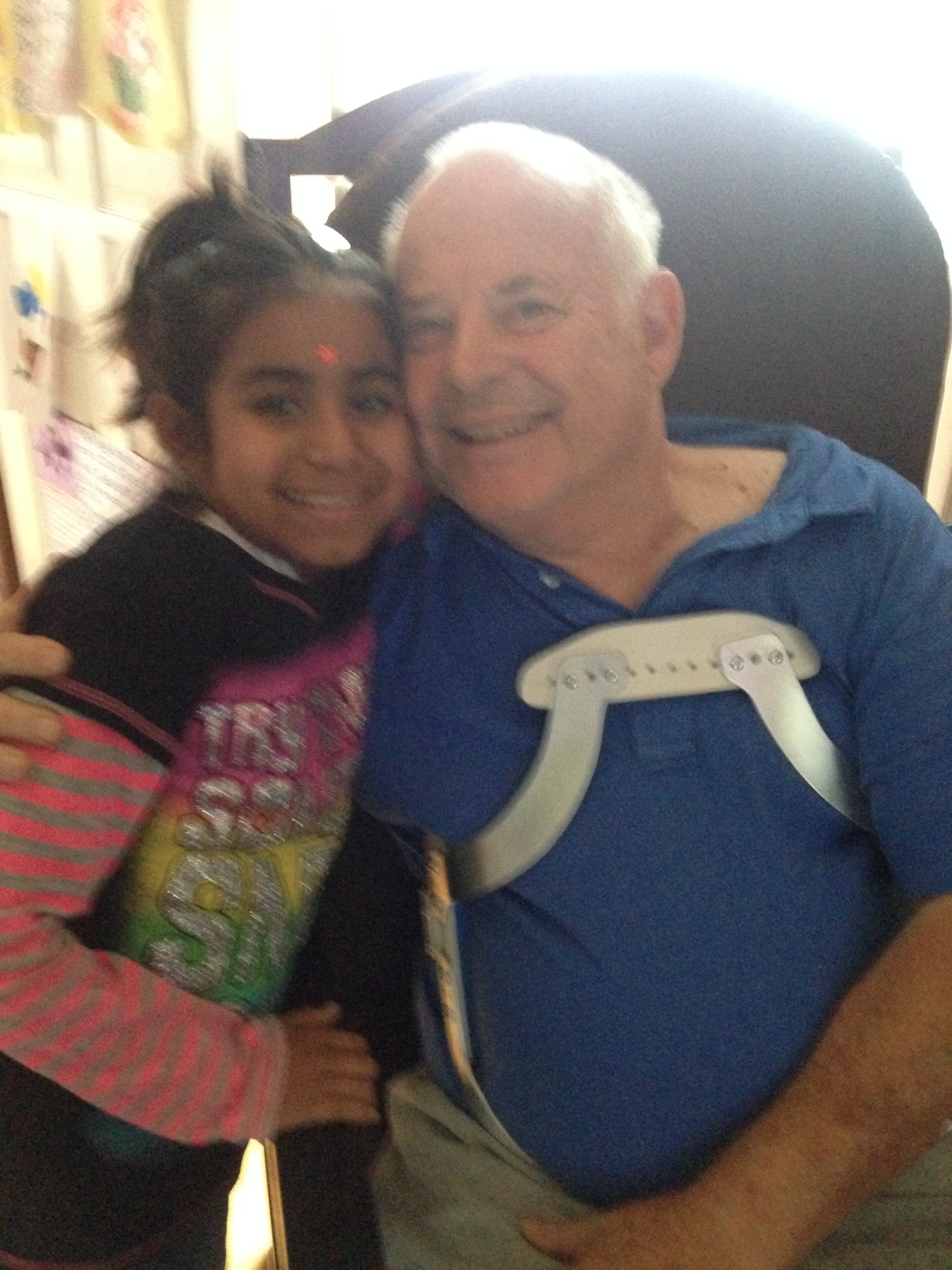 The dialysis children come visit me often. This is Cindy