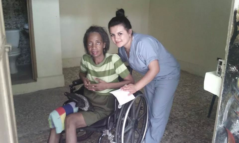 Sandy Karina working. She was raised here and is a physical therapist. (mine also)