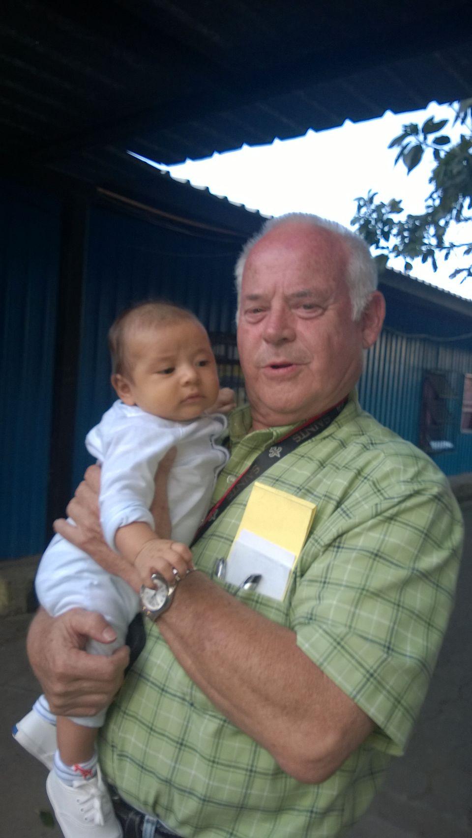 Grandpaw with Javi, the son of Josue' and Estella.
