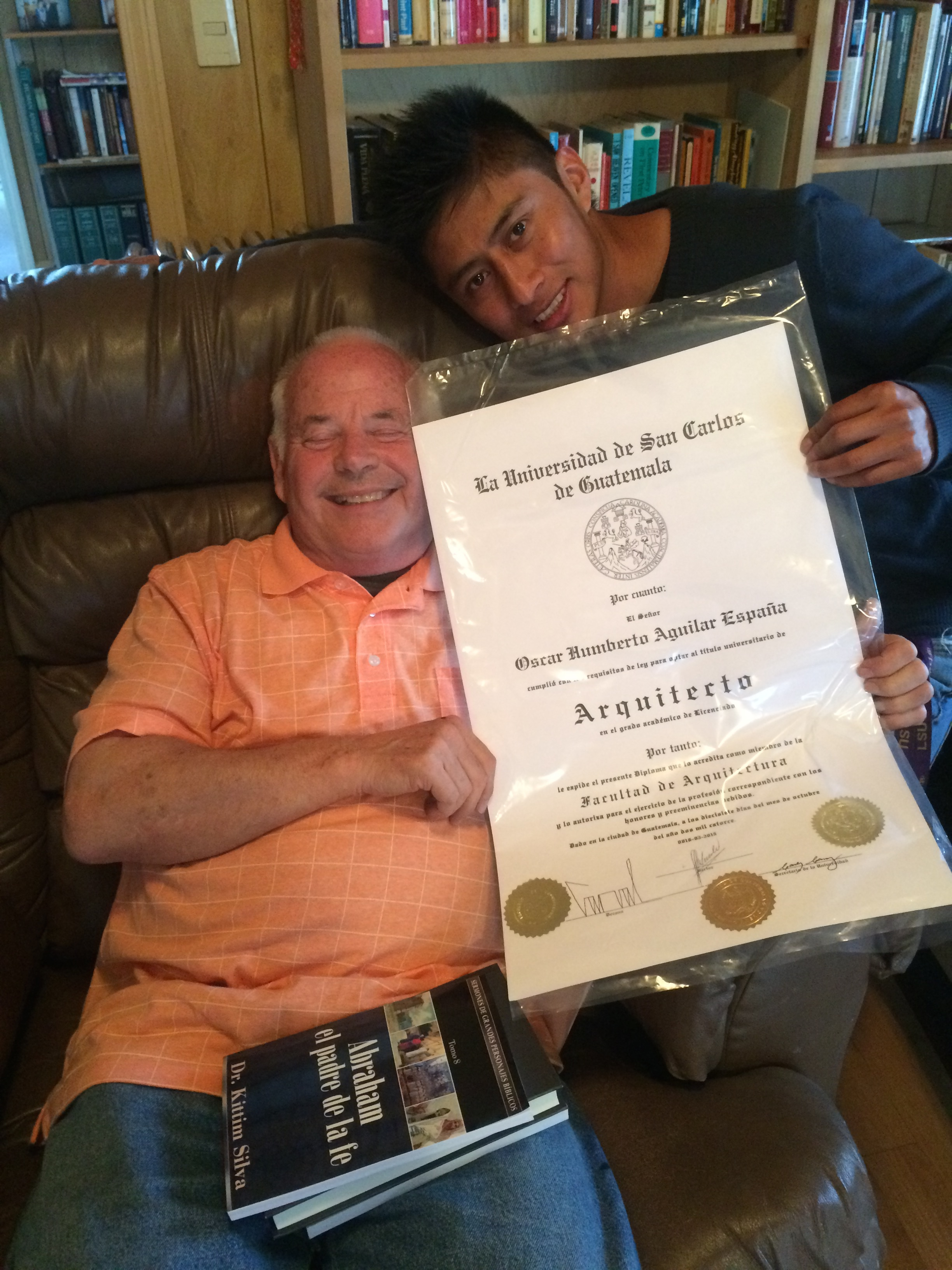 Oscar received his Architect Diploma--little thing huh?