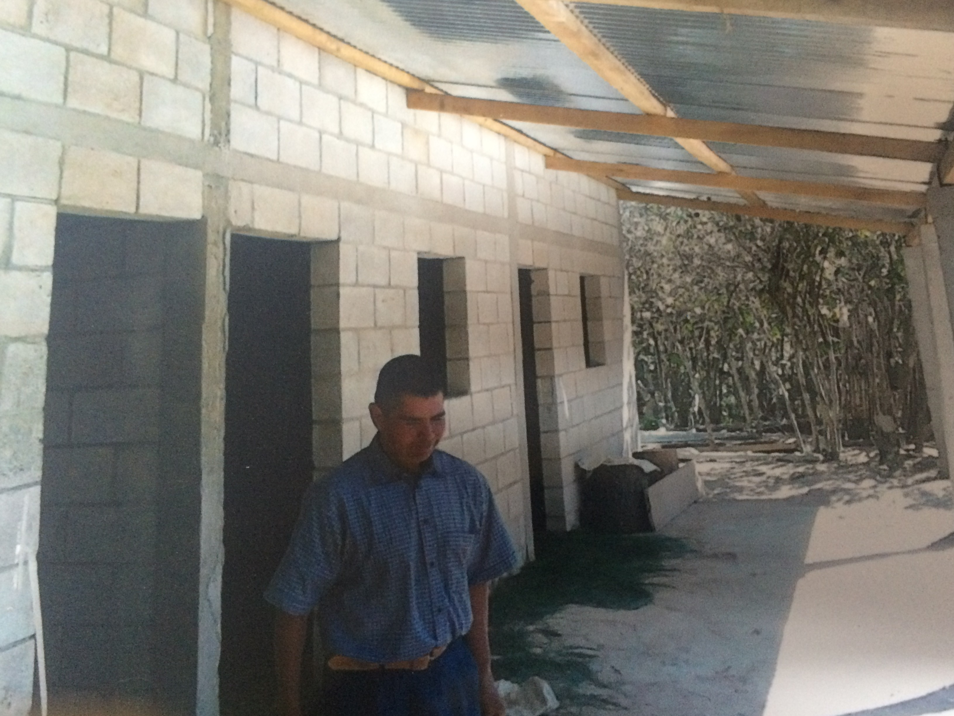 Pastor Isais Lopez in Simajuleu Comalapa in his new home.