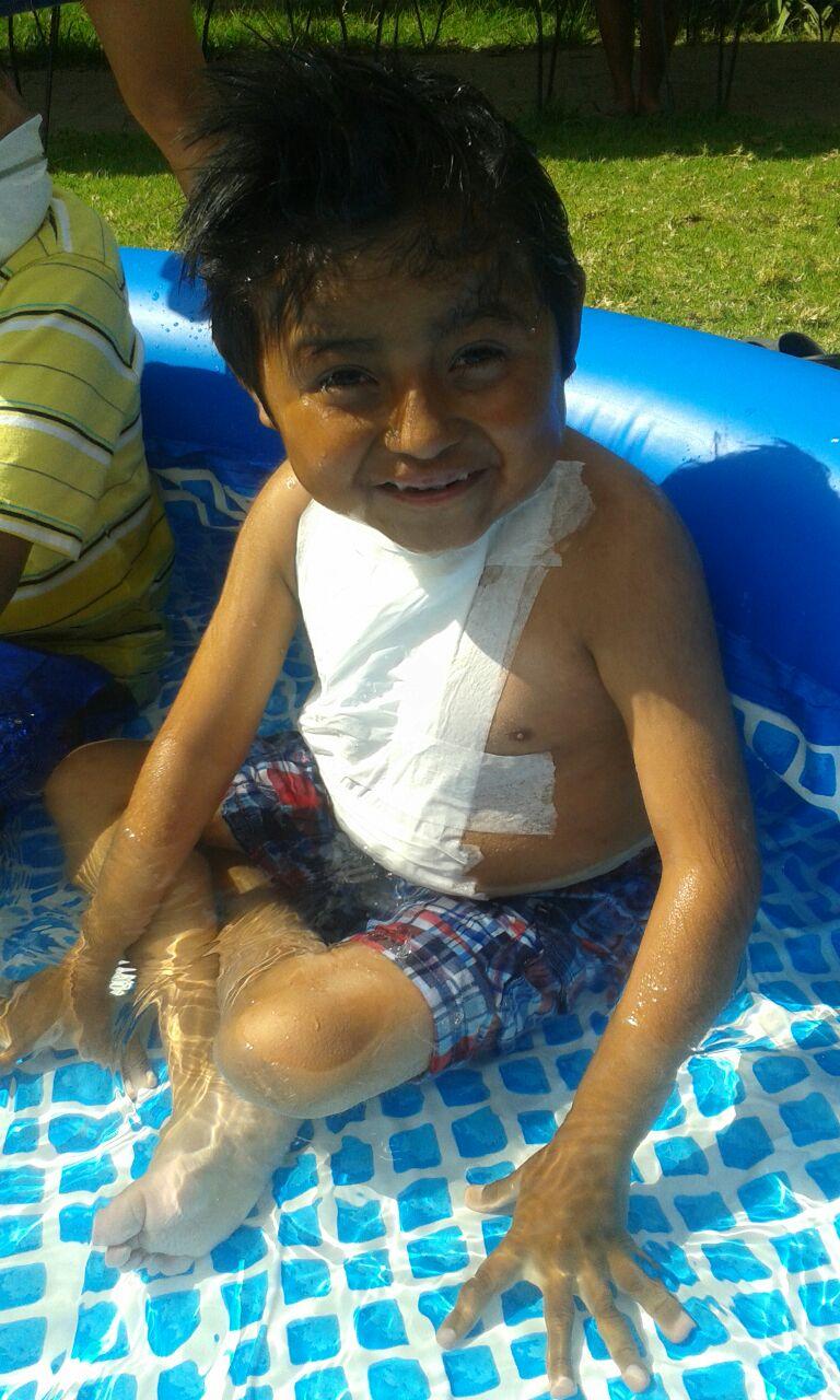 Keiser getting to enjoy a little break in the pool