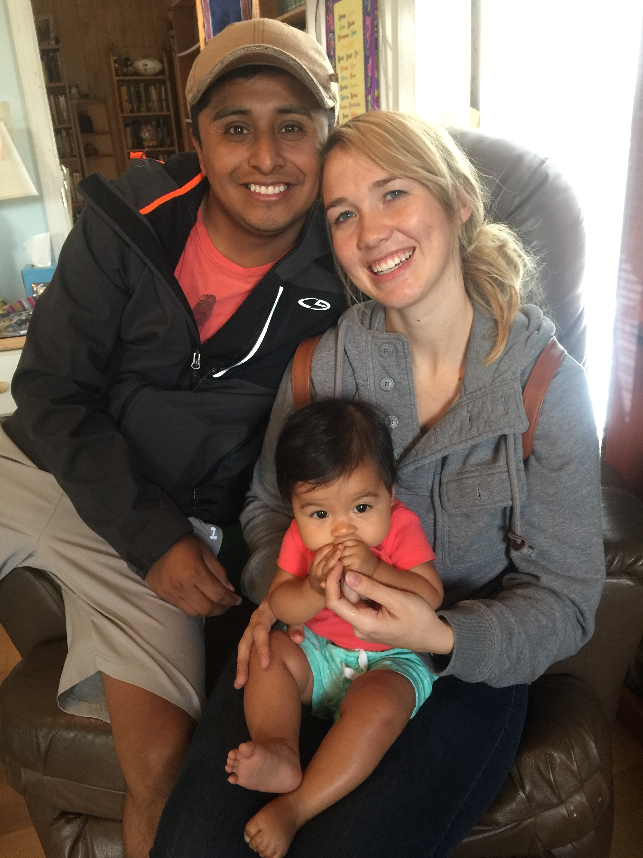 Pedro (with wife & child) left 7 years ago & is returning to Guatemala as a Christian minister having graduated Seminary & Collage in Tn.