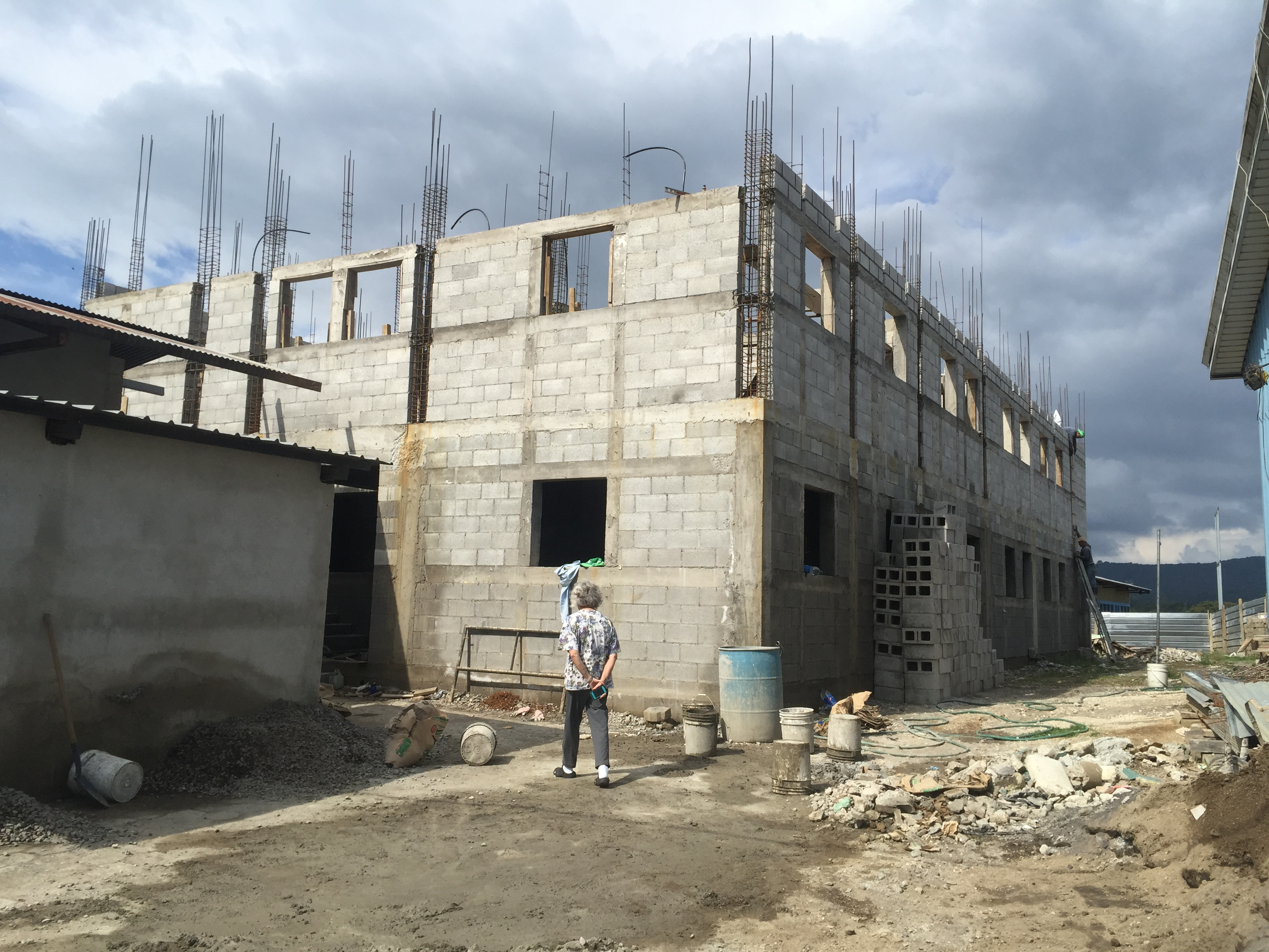 The dialysis care construction is progressing