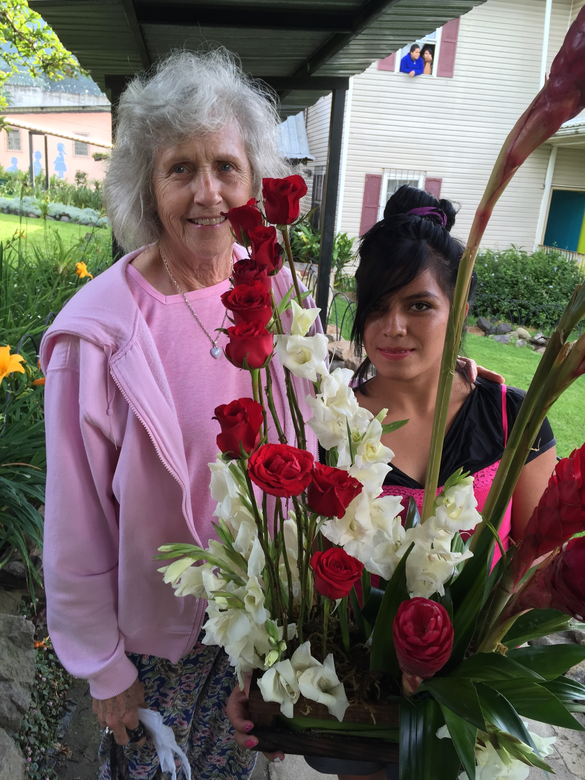Shirley made anther bouquet for Dottie.