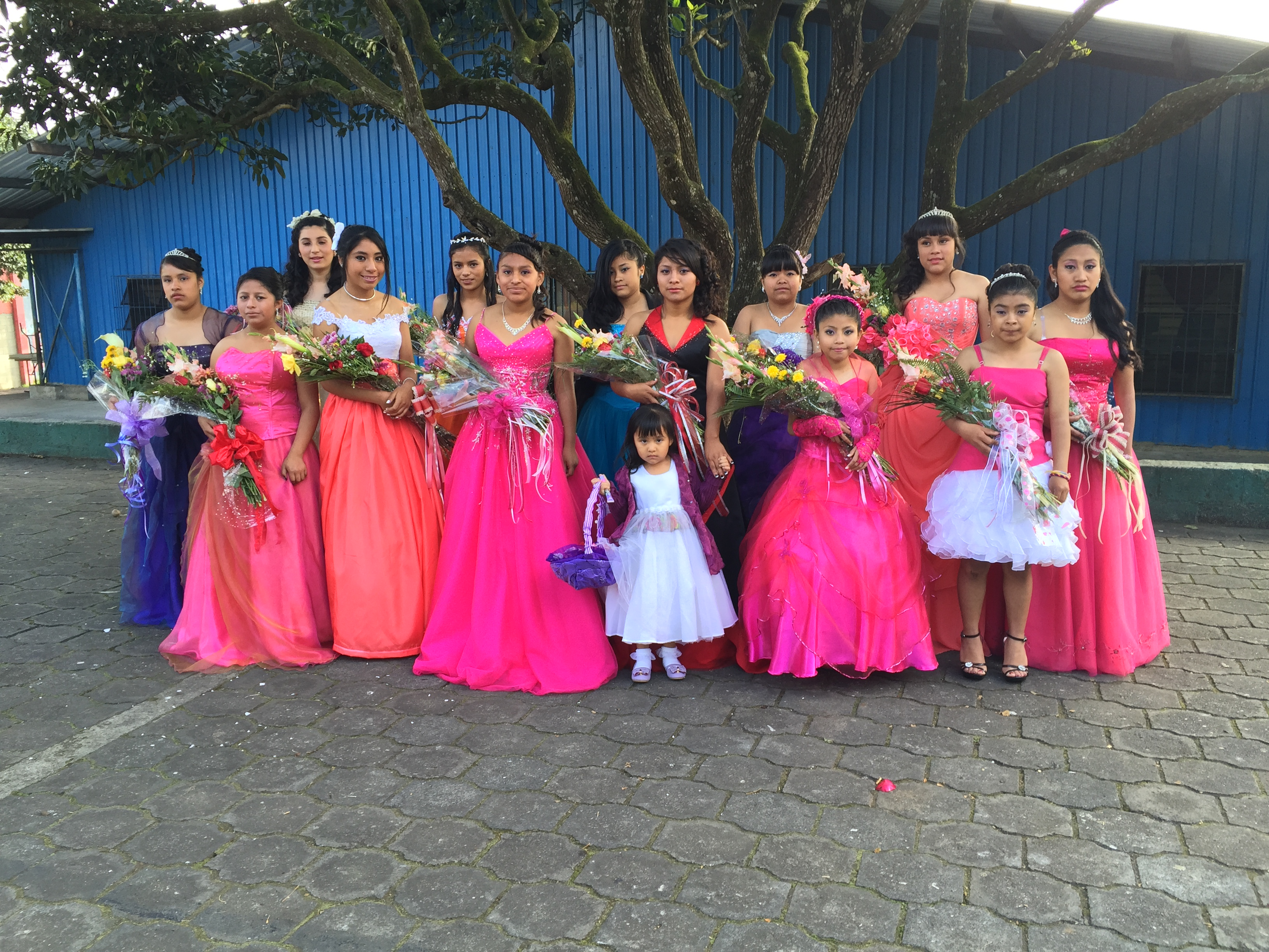 The quinceaneras were beautiful