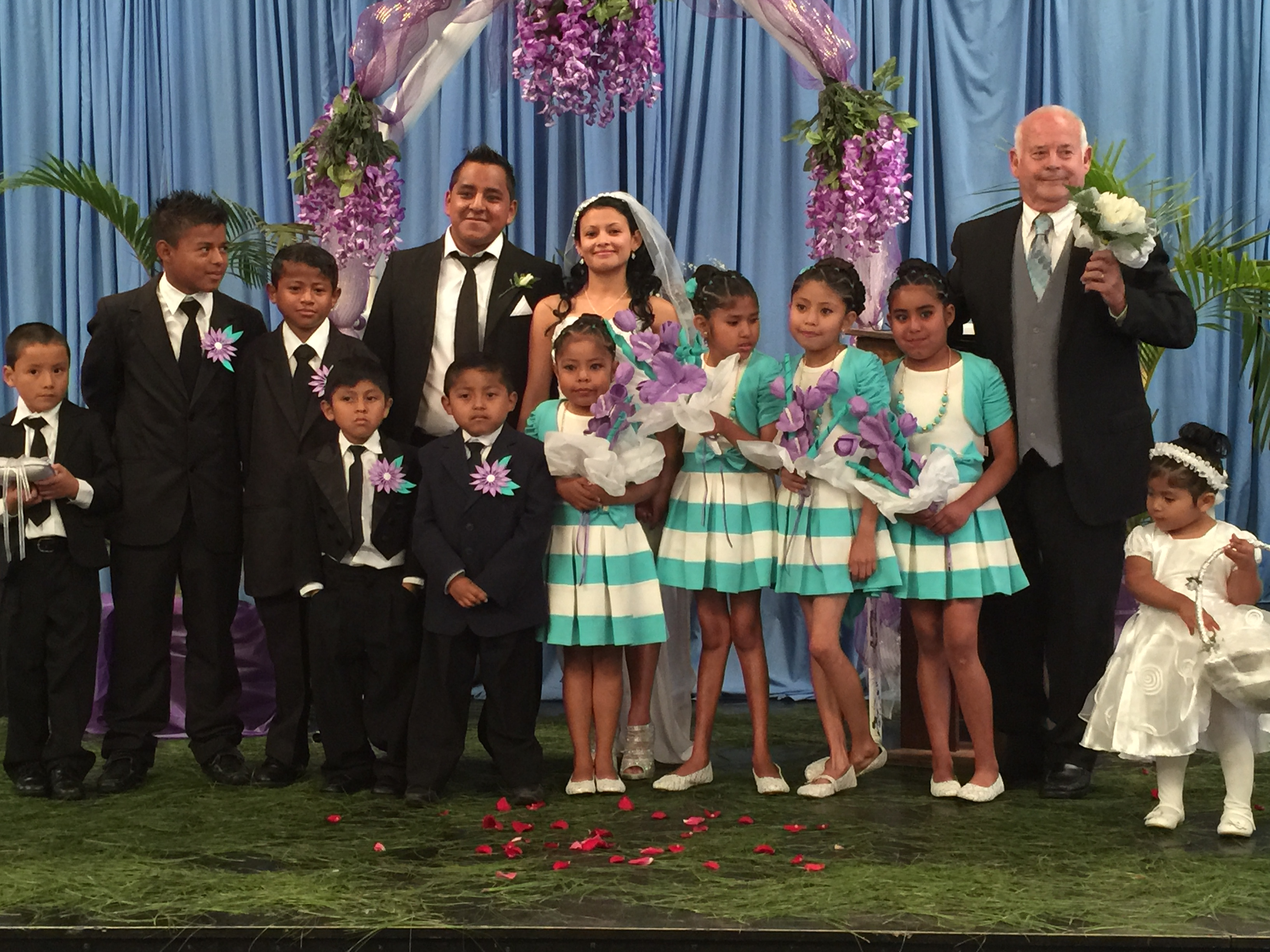 Rosario chose the dialysis children as groomsmen and brides maids