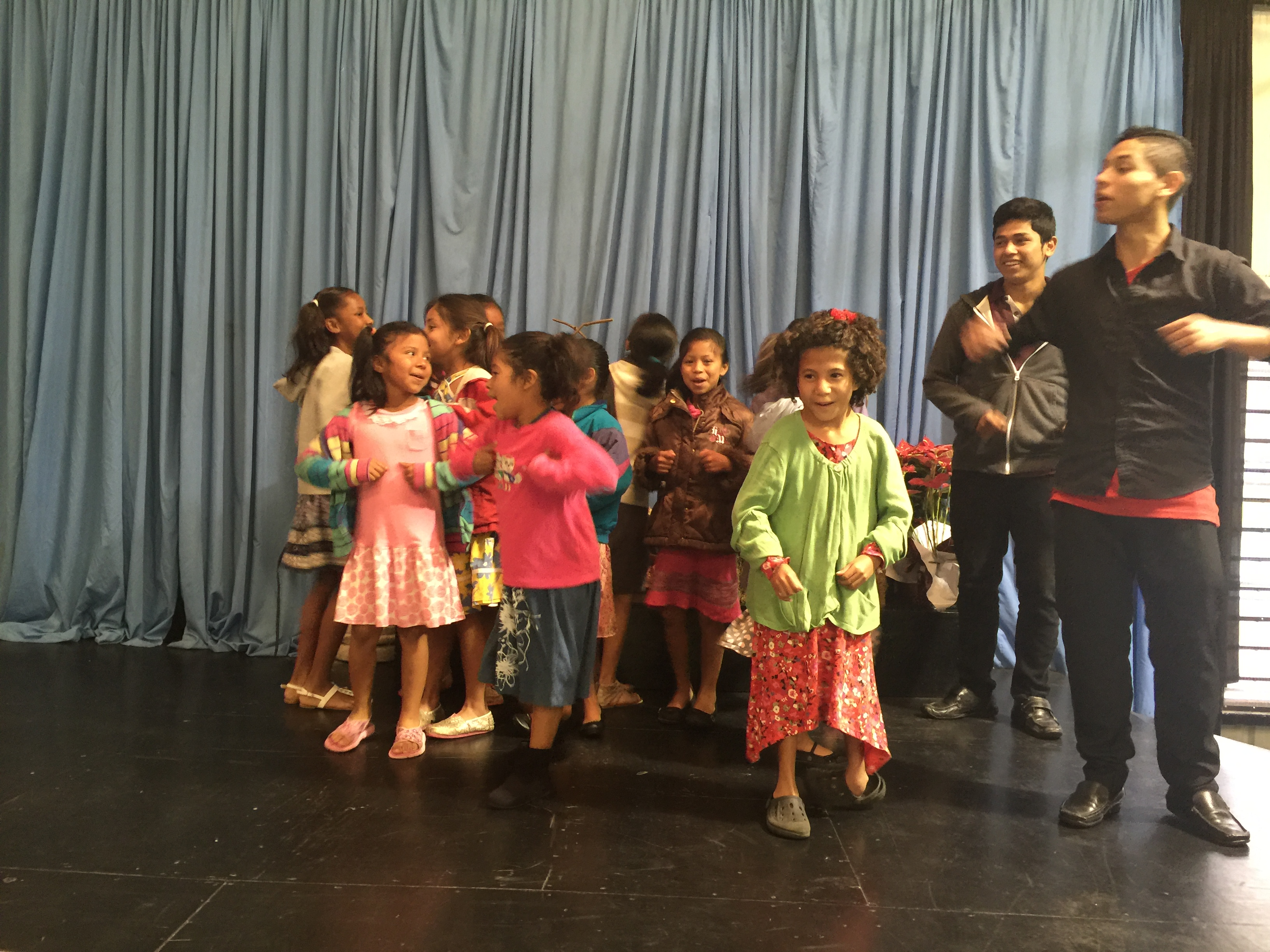 The little girls praising the Lord