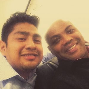 Josue' with Charles Barkley