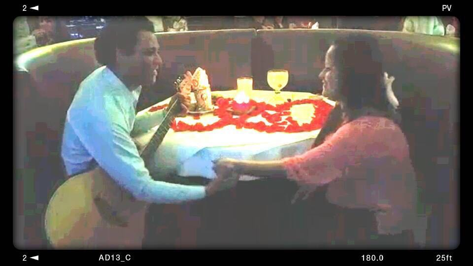 Chistian proposing to Marlin Estephany