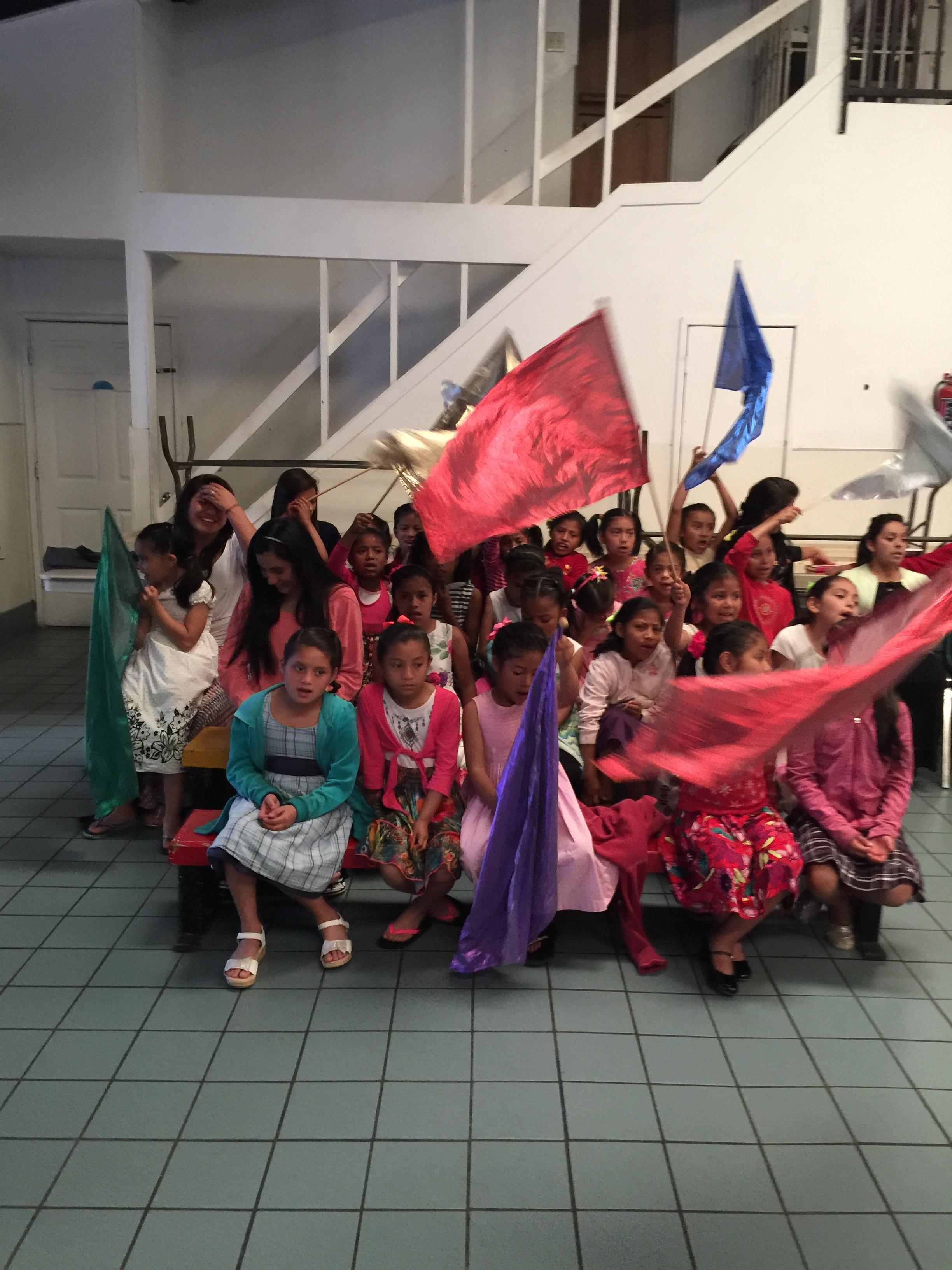 Estrelita girls in church