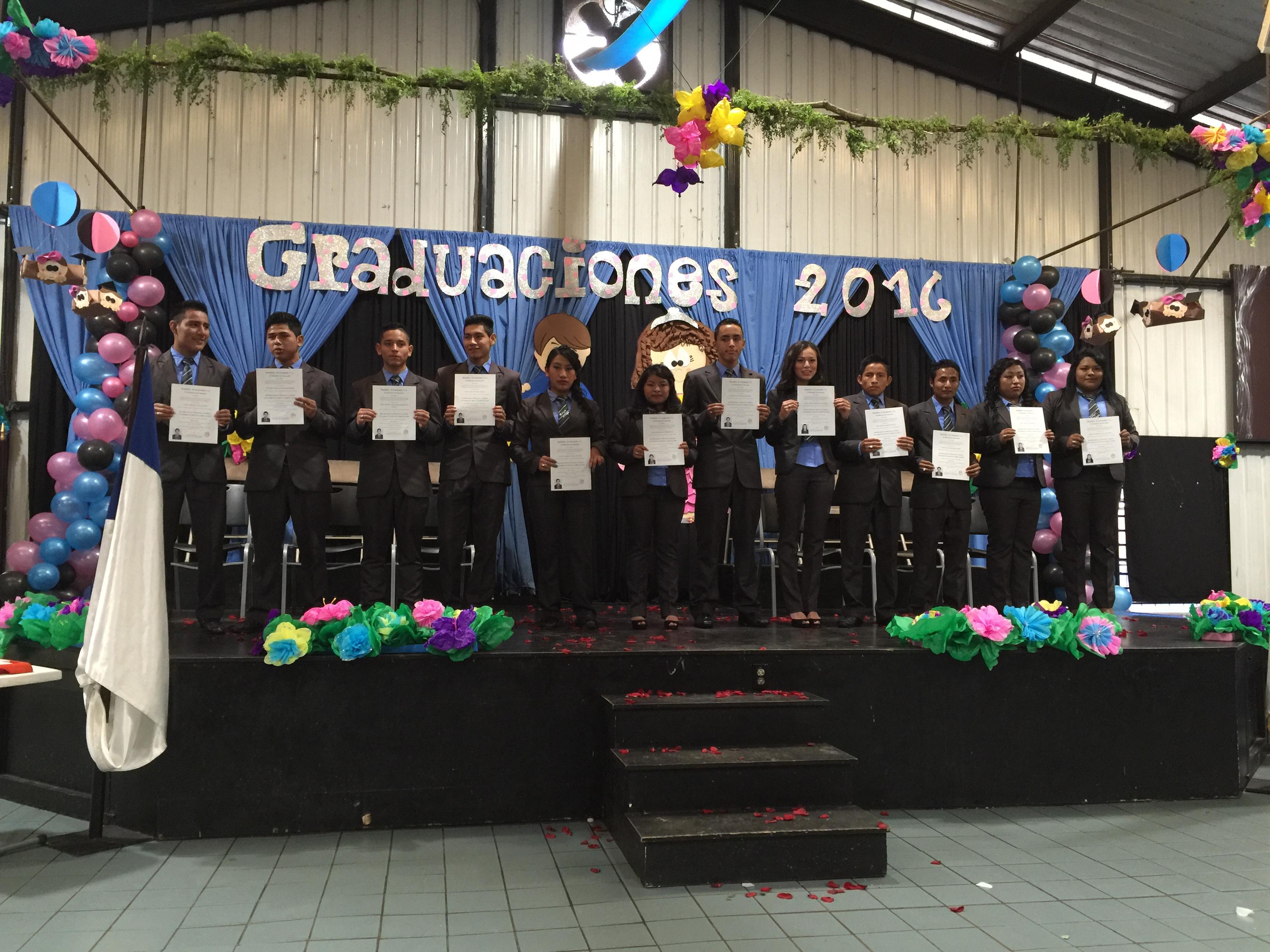 Seniors with diplomas