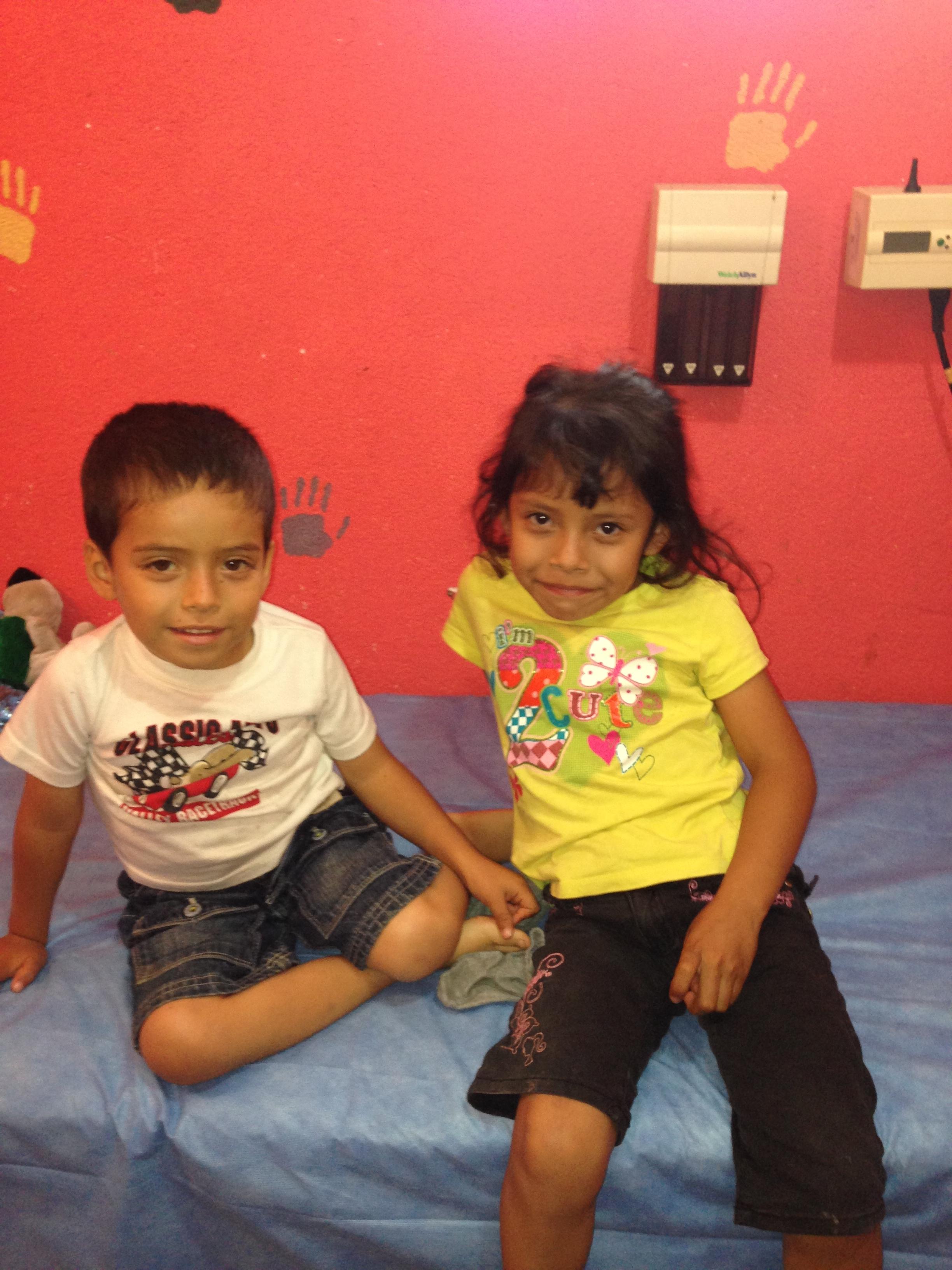 Their first medical exm at Casa