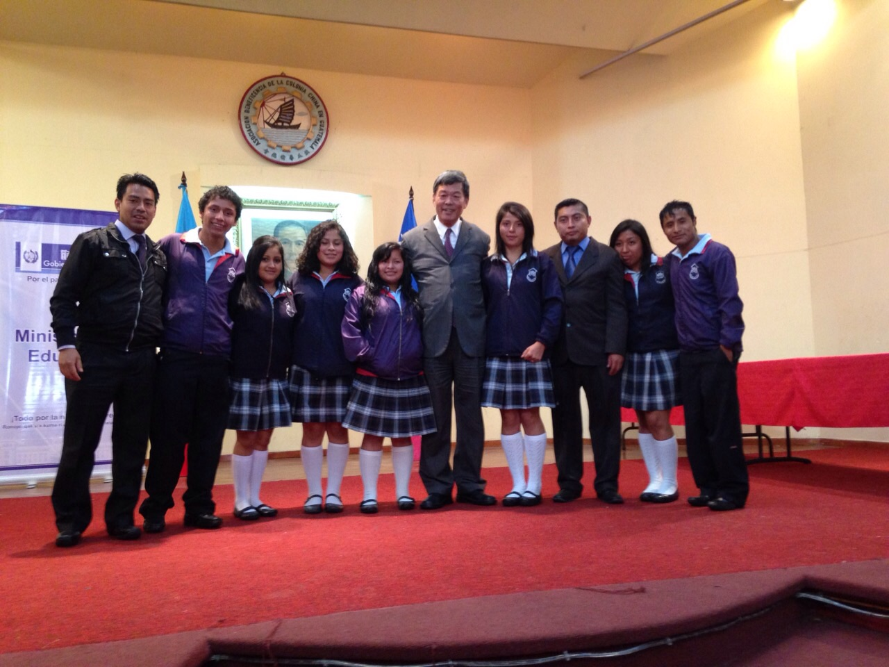 """Our """"winners"""" with the Chinese Ambassador"""
