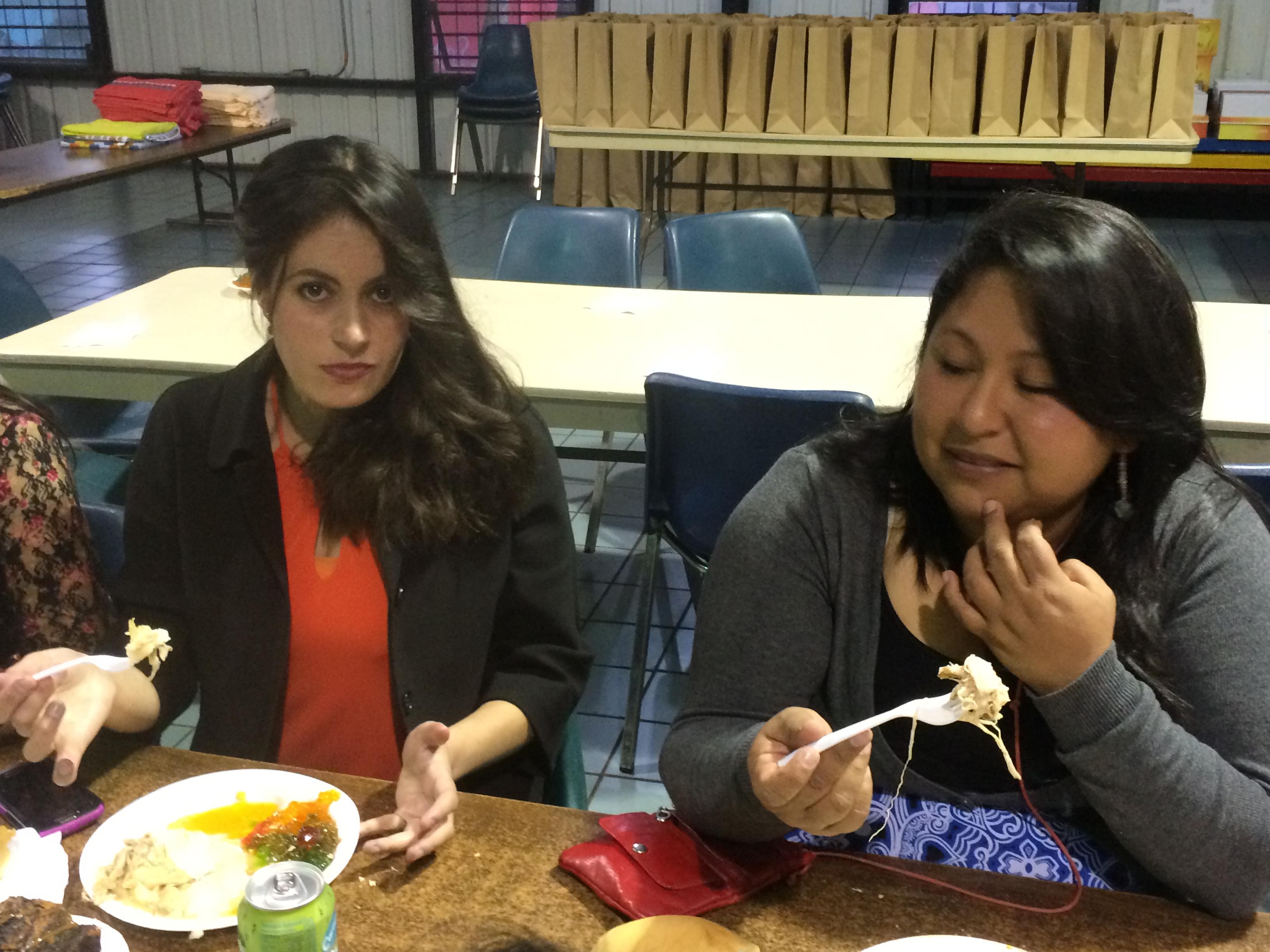 Marlin and Analy enjoying the turkey