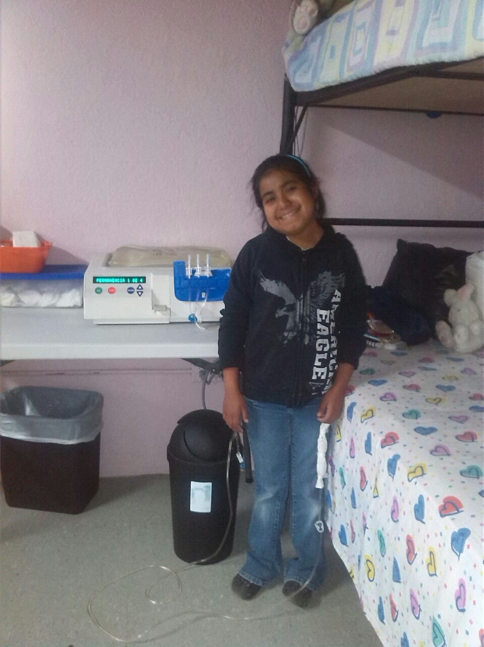 Sindy 1 Able to resume her dialysis--catheter is working