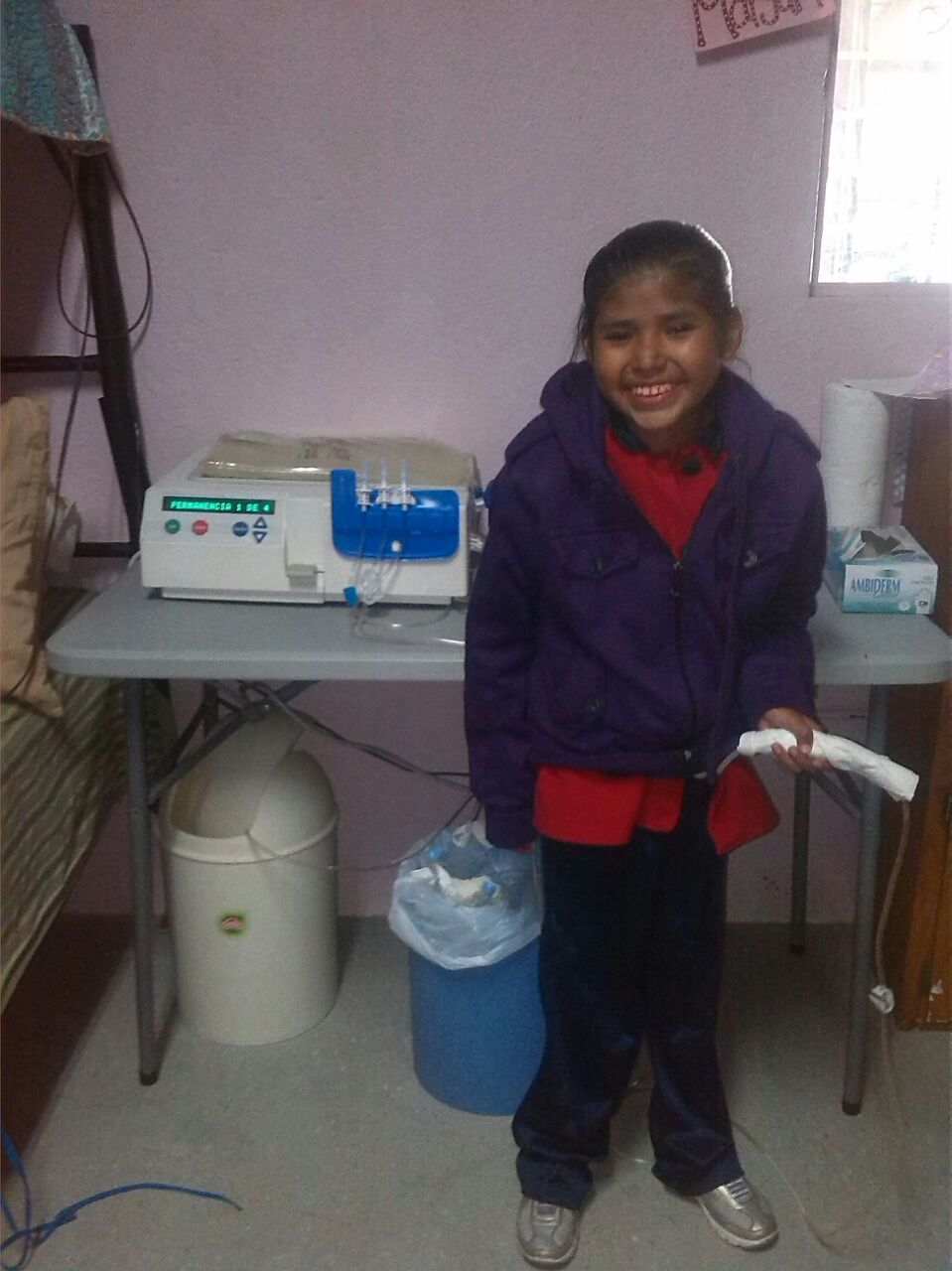 Sindy 2 with her catheter working again. We are blessed for them!